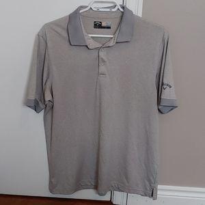 Callaway opti-dry grey golf polo shirt size medium